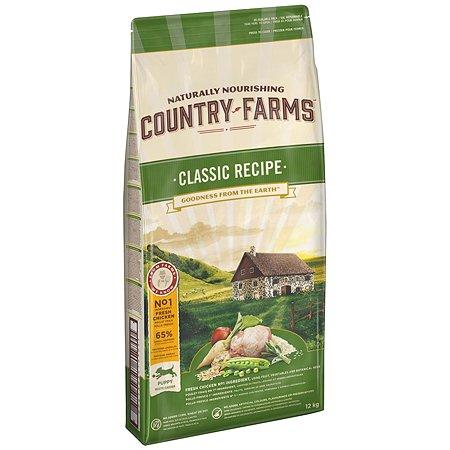 Корм для щенков Country Farms Classic Recipe с курицей 12кг