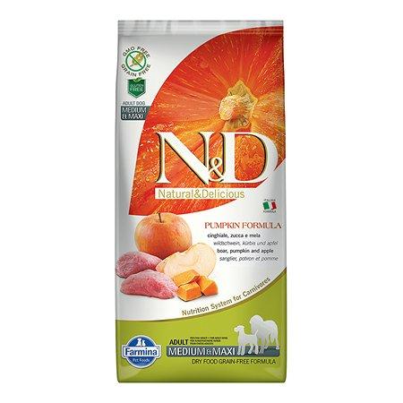 Корм для собак Farmina ND средних и крупных пород кабан-яблоко-тыква 12кг