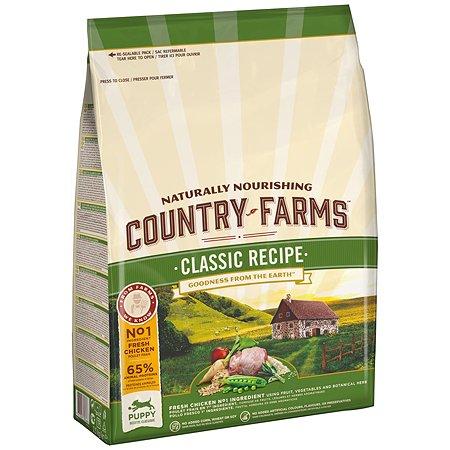 Корм для щенков Country Farms Classic Recipe с курицей 2.5кг