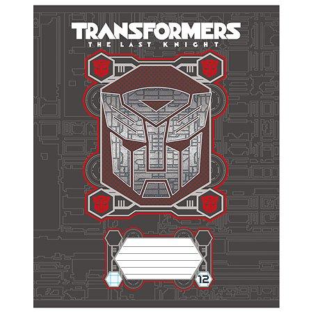 Тетрадь Полиграф Принт Transformers Клетка 12л TR150/5