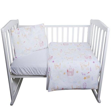 Комплект постельного белья Babyton Кошкин Дом 2 предмета 10013