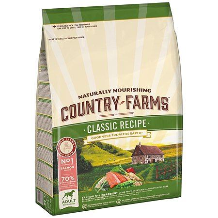 Корм для собак Country Farms Classic Recipe с лососем 2.5кг