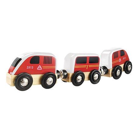 Игрушка ELC Паровоз с вагонами Красный 145842