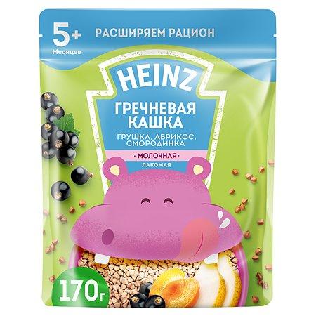 Каша Heinz Лакомая гречневая груша-абрикос-смородина 170г с 5месяцев