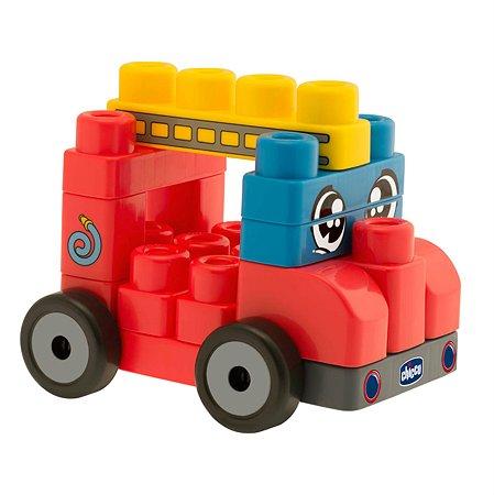 Набор строительных блоков 2 в 1 Chicco Машинки (20шт) 12м-6лет