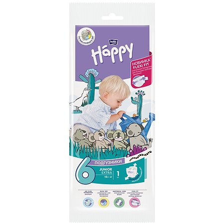 Подгузник Bella baby Happy Junior Extra 6 16+кг 1шт