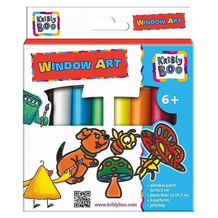 Набор Kribly Boo Window Art с трафаретами