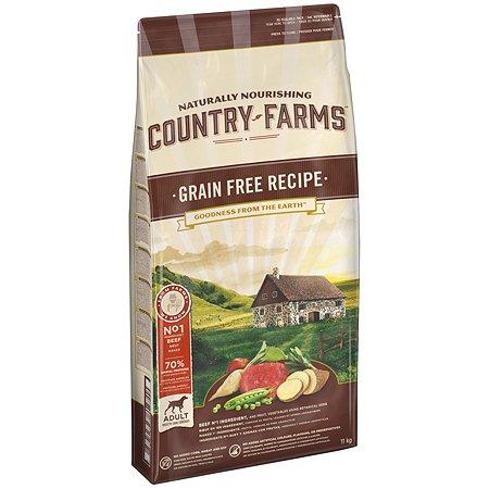 Корм для собак Country Farms Grain Free с говядиной 11кг