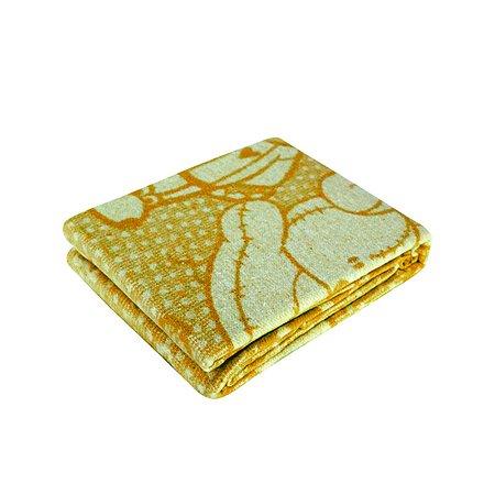 Одеяло байковое Споки Ноки жаккард 100х118 желтое