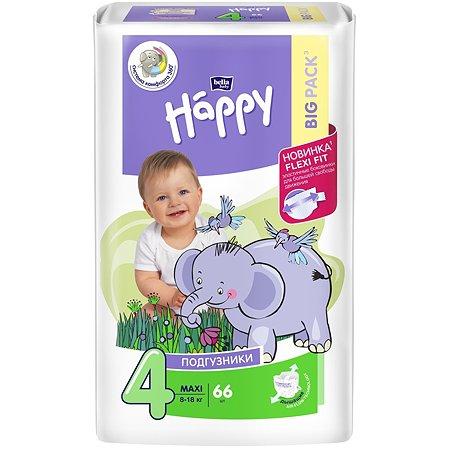 Подгузники Bella baby Happy Maxi 4 8-18кг 66шт