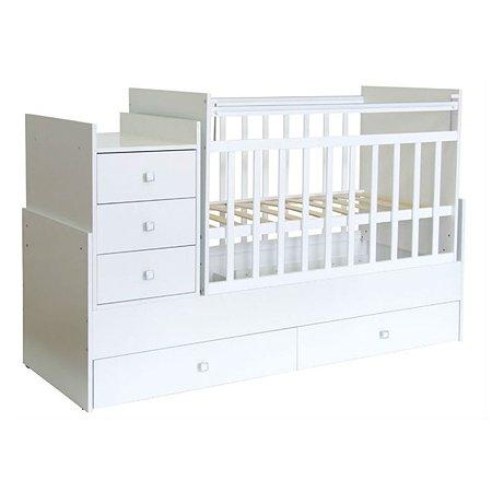 Кроватка Фея 1200 белый