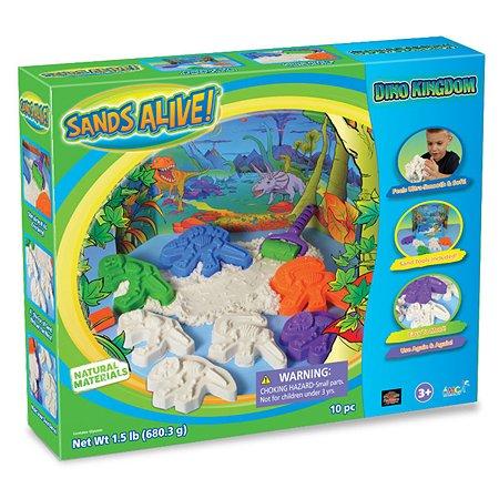 Набор для творчества Spin Master Sands Alive 3D Крепость Динозавров  675г, аксессуары