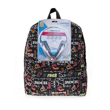 Рюкзак с наушниками 3D-Bags Рок-Стар (мульти)