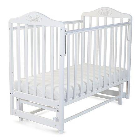 Кровать Наша Мама Джулия с попер.маятником цв.белый