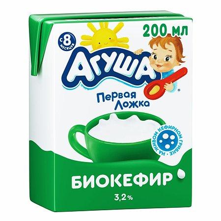 Биокефир Агуша 3.2% 0.200л с 8месяцев