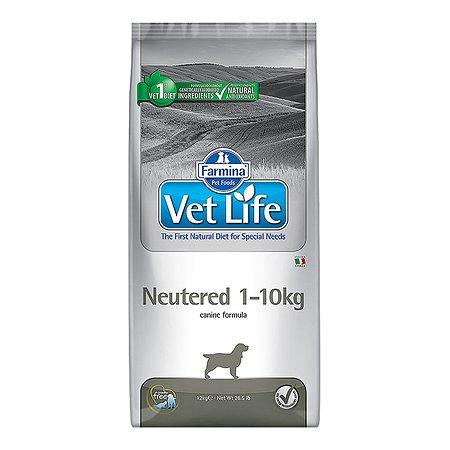 Корм для собак Farmina VetLife стерилизованных мелких пород 10кг