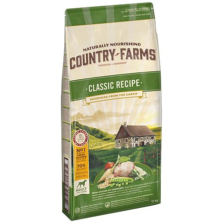 Корм для собак Country Farms Classic Recipe с курицей 12кг