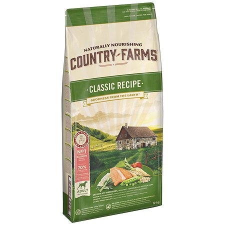 Корм для собак Country Farms Classic Recipe с лососем 12кг