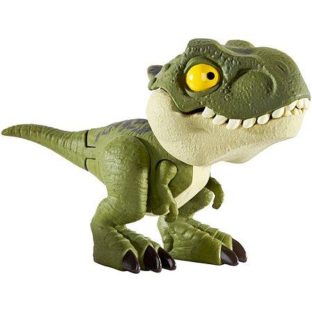 Фигурка Jurassic World Цепляющийся мини-динозаврик Тираннозавр Рекс Зеленый GGN33