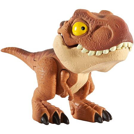 Фигурка Jurassic World Цепляющийся мини-динозаврик Тираннозавр Рекс Коричневый GGN27