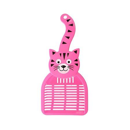 Совок для кошачьего туалета Ripoma розовый Ripoma