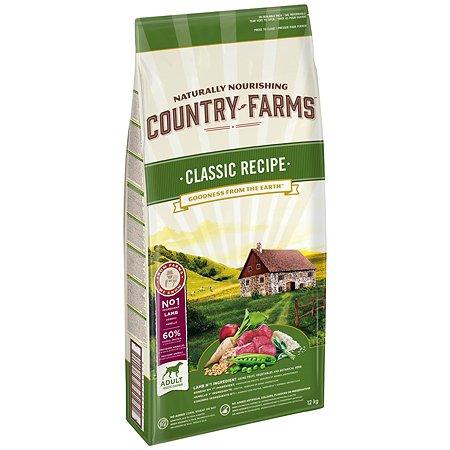 Корм для собак Country Farms Classic Recipe с ягненком 12кг