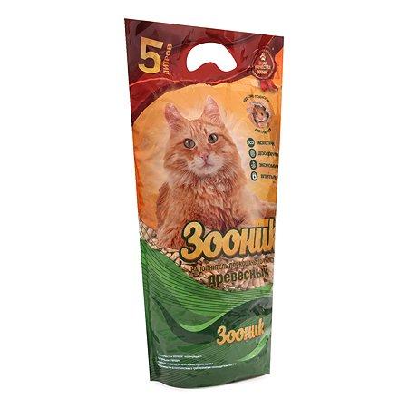 Наполнитель для кошек Зооник древесный 5л