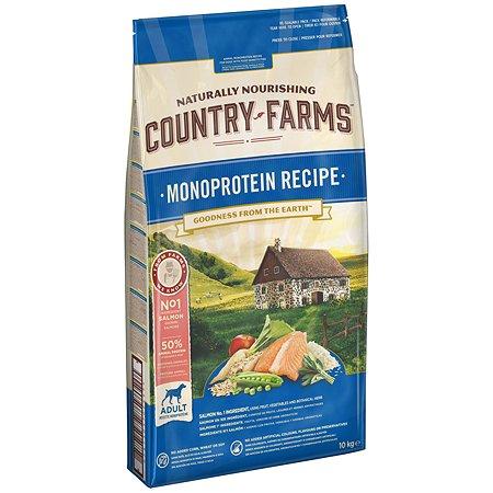 Корм для собак Country Farms Monoprotein с лососем 10кг