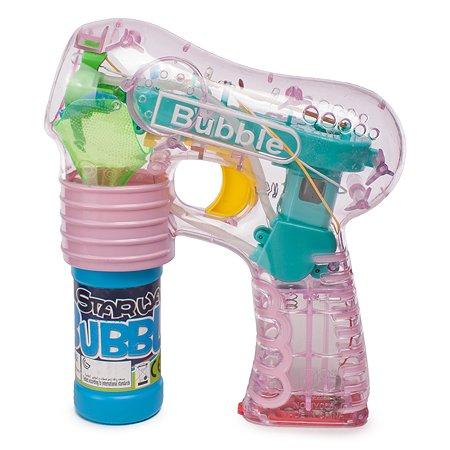 Пистолет Newsun Toys для выдувания мыльных пузырей+ 1 бутылочка 70мл JY006-B