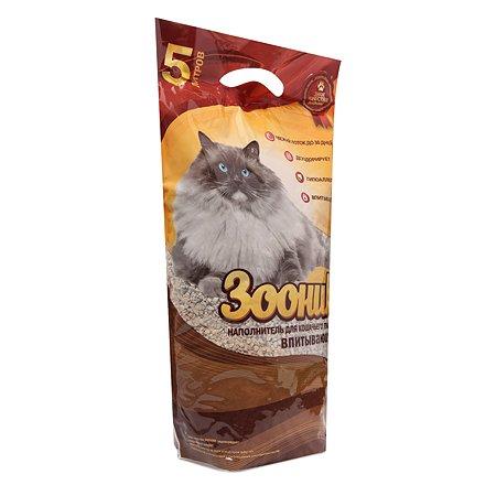 Наполнитель для кошек Зооник впитывающий 5л