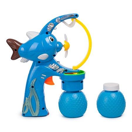 Пистолет Newsun Toys для выдувания мыльных пузырей Рыбка +2 бутылочки 90-95мл JY009-C