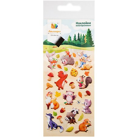 Наклейка декоративная Липляндия зефирная 4 Животные 8 70*160