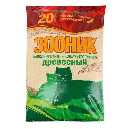 Наполнитель для кошек Зооник древесный 20 л
