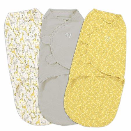 Конверт Summer Infant SwaddleMe Жирафы на липучке S/M 3шт Желтый