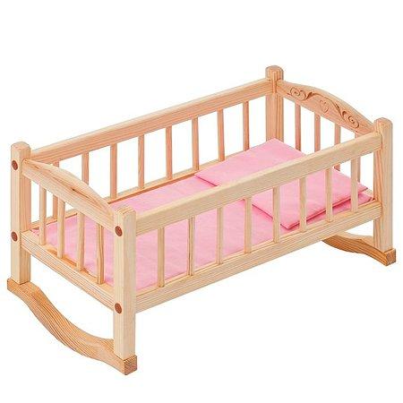 Кроватка-люлька PAREMO для куклы Розовый PFD116-02