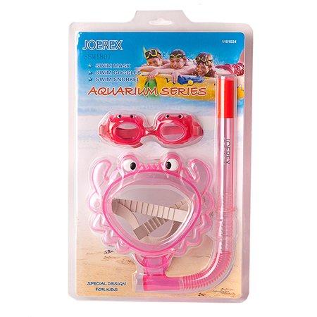 Набор для плавания JOREX маска + трубка + очки в ассортименте
