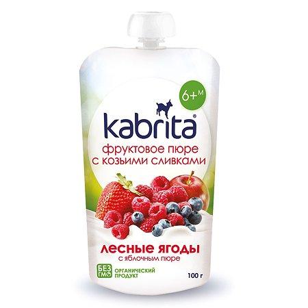 Пюре Kabrita лесная ягода с козьими сливками 100г с 6месяцев