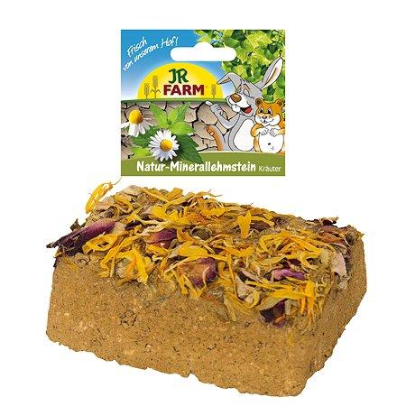 Камень для грызунов JR Farm минеральный суглинистый с цветками 25611
