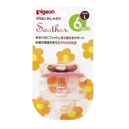 Пустышка Pigeon Цветочек 6+ мес (размер L)