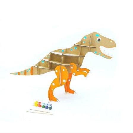 Набор  из картона Attivio Сборный крафтовый Тираннозавр