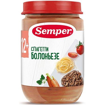 Пюре Semper спагетти болоньезе 190г с 12месяцев