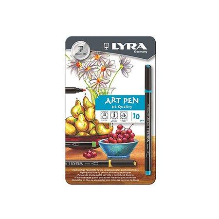 Фломастеры Lyra Art Pen 10 шт. металл