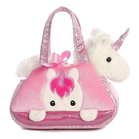 Мягкая игрушка Aurora Единорог в сумке переноске