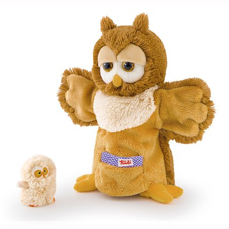 Мягкая игрушка на руку Trudi Сова с совенком 28 см