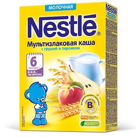 Каша Nestle мультизлаковая с грушей и персиком с 220г 6месяцев