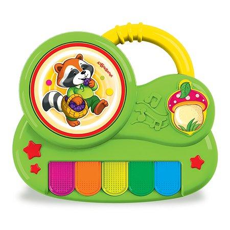 Игрушка Азбукварик Пианино Крошка Енот с огоньками 2342