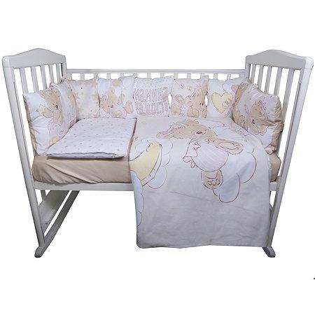 Комплект постельного белья Эдельвейс Мой Медвежонок 6предметов Розовый 10626