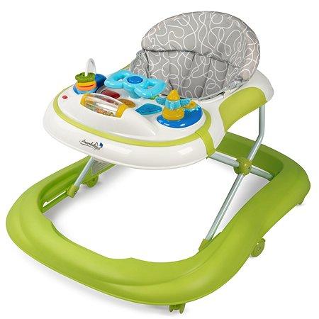 Ходунки AMARO BABY Strolling Baby с электронной игровой панелью Зеленый