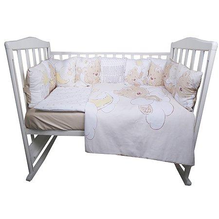 Комплект постельного белья Эдельвейс Мой Медвежонок 6предметов Голубой 10626