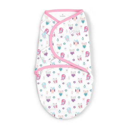 Конверт Summer Infant SwaddleMe Розовые совята на липучке S/M 56356